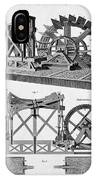 Paddle-driven Beam-engine Suction Pump IPhone Case