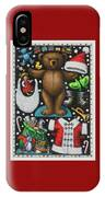 Page 1 Of 2 Teddy Bear Santa Claus Paper Doll IPhone Case
