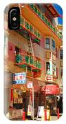 Painted Balconies In San Francisco Chinatown IPhone Case
