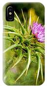 Painted Milk Thistle IPhone Case