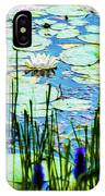 Painted North American White Water Lily IPhone Case