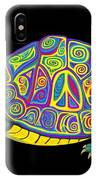 Painted Peace Turtle Too IPhone Case