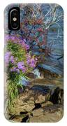 Painted River Flower IPhone Case