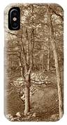 Painted Shore Camps In Sepia IPhone Case