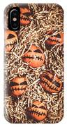 painted tangerines for Halloween IPhone Case
