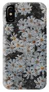 Painted White Daisies IPhone Case