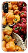 Painterly Peppers IPhone Case