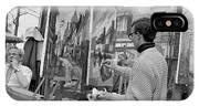 Painters In Montmartre, Paris, 1977 IPhone Case