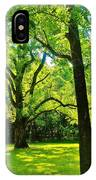 Painting-like Photo Of A Rural Lawn IPhone Case