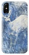 Painting Of Young Deer In Wild Landscape With High Grass. Graphic Effect. IPhone Case