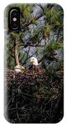 Pair Of Bald Eagles In Nest IPhone Case