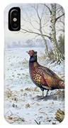 Pair Of Pheasants With A Wren IPhone Case