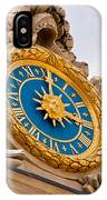 Palace Of Versaille Exterior Clock IPhone Case