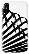 Palm Frond Black And White IPhone Case