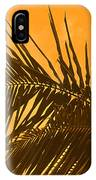 Palm Frond Sunset IPhone Case