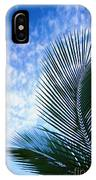 Palm Fronds And Clouds IPhone Case