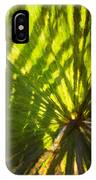 Palm Leaves And Morning Light IPhone Case
