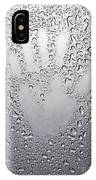Palm Print On Wet Metal Surface IPhone Case
