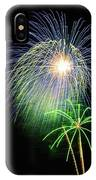 Palm Tree Fireworks IPhone Case