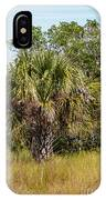 Palm Tree In Golden Grass IPhone Case