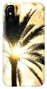 Palm Tree In The Sun #2 IPhone Case