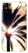 Palm Tree In The Sun IPhone Case