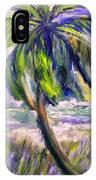 Palm Tree On Windy Beach IPhone Case