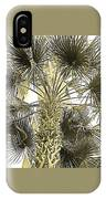 Palm Tree Pen And Ink Grayscale With Sepia Tones IPhone Case