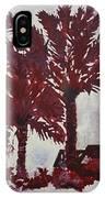 Palm Trees Acrylic Modern Art Painting IPhone Case