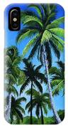 Palm Trees Under A Blue Sky IPhone Case