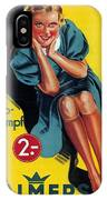 Palmers - Halb-strumpf - Vintage Germany Advertising Poster IPhone Case