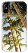Palms Against Blue Sky IPhone Case