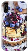 Pancakes With Chocolate Sauce IPhone Case