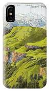 Panorama Drawn From The Rigi Mountain IPhone Case
