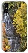 Panorama Fall Color Chapel Falls Upper Penninsula Mi IPhone Case
