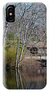 Panorama Of Lake, Trees And Cabin IPhone Case