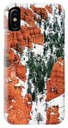 Panorama Winter Storm Blankets Thors Hammer Bryce Canyon Utah IPhone Case