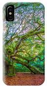 Panoramic Angel Oak Tree Charleston Sc IPhone Case