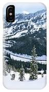 Panoramic Mountain Top View Of Popular Washington Resort IPhone Case