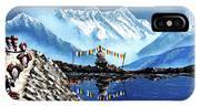 Panoramic View Of Annapurna Mountain Nepal IPhone X Case