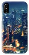 Panoramic View Of Dubai City IPhone Case