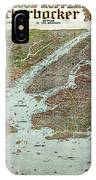Panoramic View Of New York City And Vicinity - 1912 IPhone Case