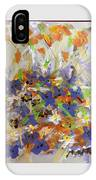 Pansies And Lillies IPhone Case