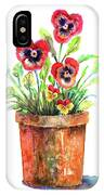 Pansies In A Clay Pot IPhone Case