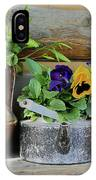 Pansies In Pots IPhone Case