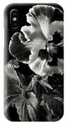 Pansy In Black And White IPhone X Case
