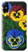 Pansy Lions IPhone Case