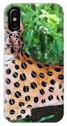Paper Mache Leopard IPhone Case