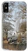 Walk In A Snowy Park IPhone Case