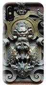 Paris - 19th Century Brass Door Knocker IPhone Case